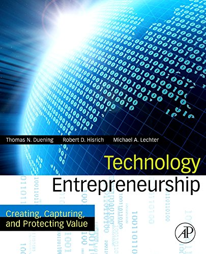 9780123745026: Technology Entrepreneurship