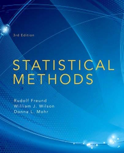 Statistical Methods: Freund, Rudolf J.