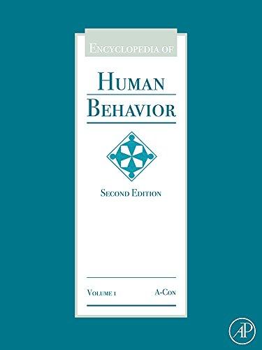 9780123750006: Encyclopedia of Human Behavior, Second Edition, 3 Volume Set (Encyclopedia of Human Behavior, Four-Volume Set)