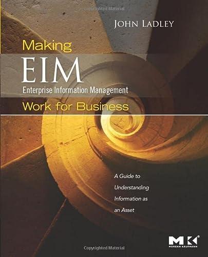 9780123756954: Making Enterprise Information Management (EIM) Work for Business: A Guide to Understanding Information as an Asset