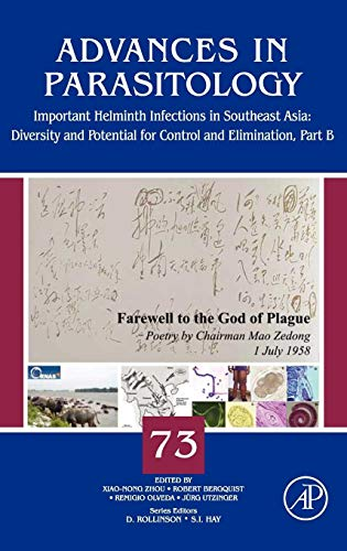 9780123815149: Important Helminth Infections in Southeast Asia, Volume 73: Diversity and Potential for Control and Elimination, Part B (Advances in Parasitology)