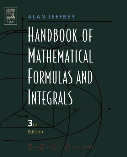 9780123822567: Handbook of Mathematical Formulas and Integrals