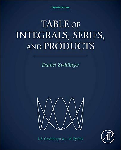 9780123849335: Table of Integrals, Series, and Products
