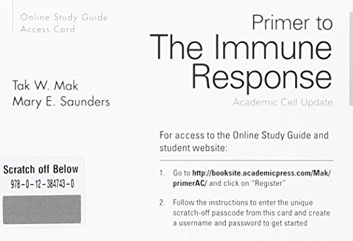 9780123852298: Primer to the Immune Response Online Stu