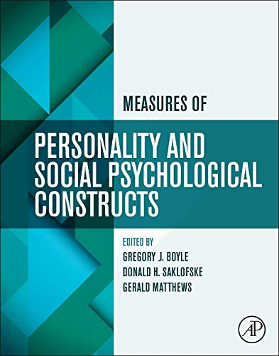 9780123869159: Measures of Personality and Social Psychological Constructs