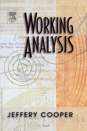 9780123885807: Working Analysis
