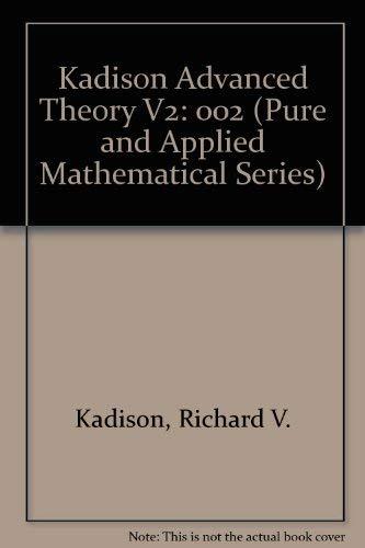 Fundamentals of the Theory of Operator Algebras.: Kadison, Richard V.