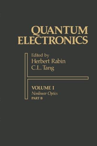 9780123942425: Quantum Electronics: A Treatise Volume I