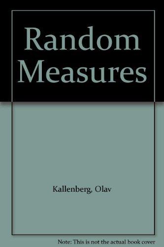 9780123949608: Random Measures