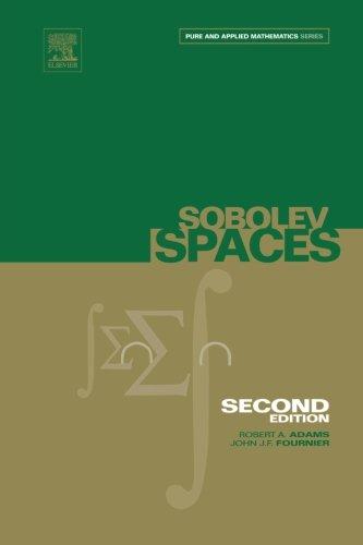 9780123958419: Sobolev Spaces