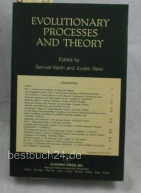 9780123987617: Evolutionary Processes and Theory