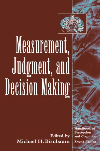 9780123992000: Measurement, Judgment, and Decision Making