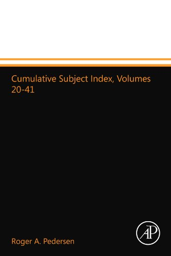 9780123993113: Cumulative Subject Index, Volumes 20-41