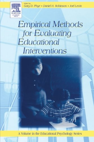 9780123995988: Empirical Methods for Evaluating Educational Interventions