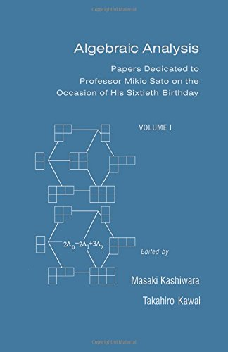 9780124004658: Algebraic Anlaysis. Papers Dedicated to Professor Mikio Sato on the Occasion of His Sixtieth Birthday. Volume I
