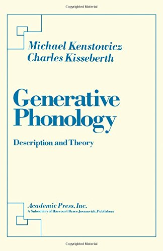 9780124051607: Generative Phonology: Description and Theory