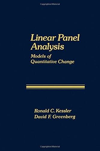 9780124057500: Linear Panel Analysis: Models of Quantitative Change (Quantitative studies in social relations)