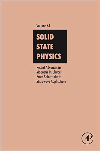9780124081307: Recent Advances in Magnetic Insulators - From Spintronics to Microwave Applications: 64 (Solid State Physics)