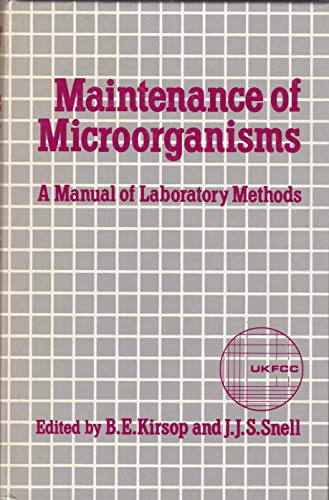 9780124103504: Maintenance of Microorganisms A Manual of Laboratory Methods