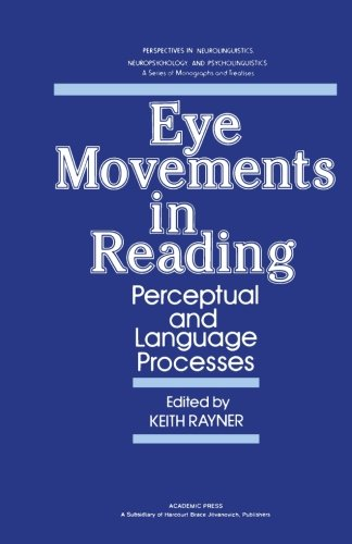9780124143128: Eye Movements in Reading: Perceptual and Language Processes