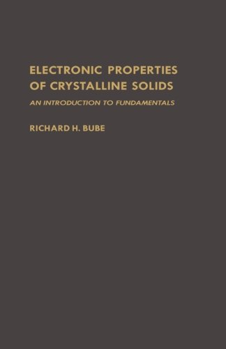 9780124143487: Electronic Properties of Crystalline Solids: An Introduction to Fundamentals