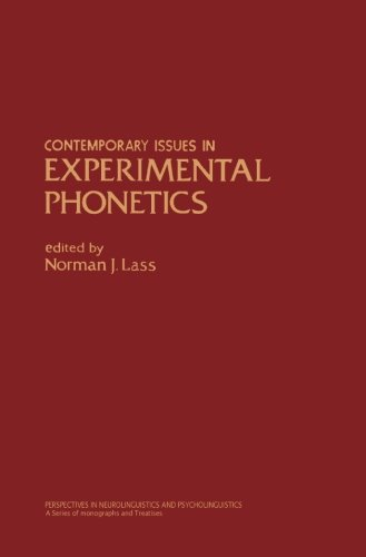 9780124144378: Contemporary Issues in Experimental Phonetics