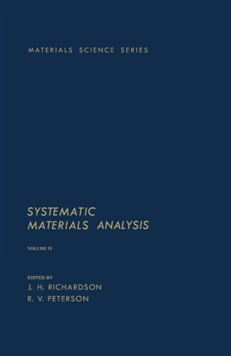 9780124144385: Systematic Materials Analysis