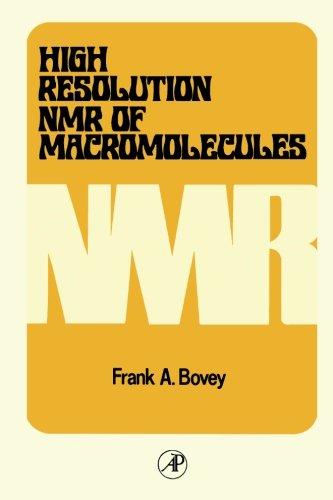 9780124145740: High Resolution NMR of Macromolecules