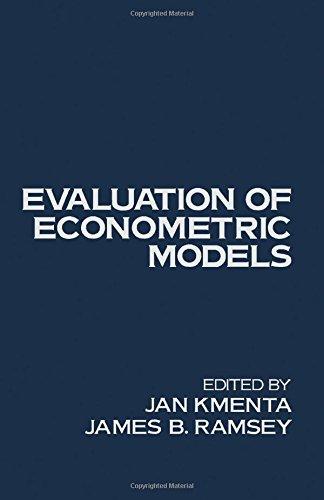 9780124165502: Evaluation of Econometric Models
