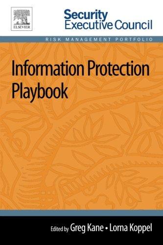 9780124172326: Information Protection Playbook (Risk Management Portfolio)