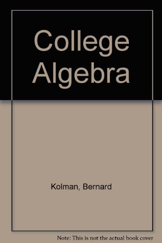 9780124178847: College Algebra