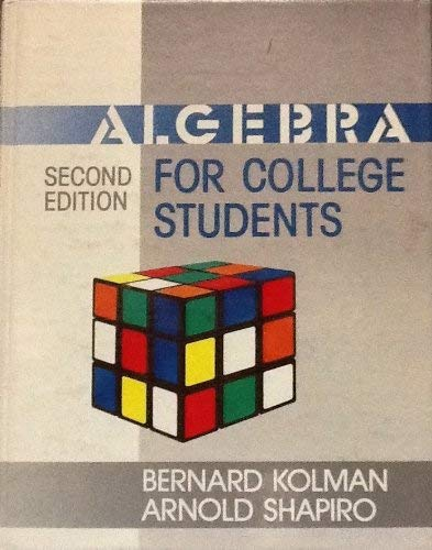9780124179004: ALGEBRA FOR COLLEGE STUDENTS