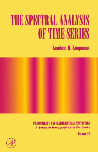 9780124192515: The Spectral Analysis of Time Series (Probability and Mathematical Statistics)