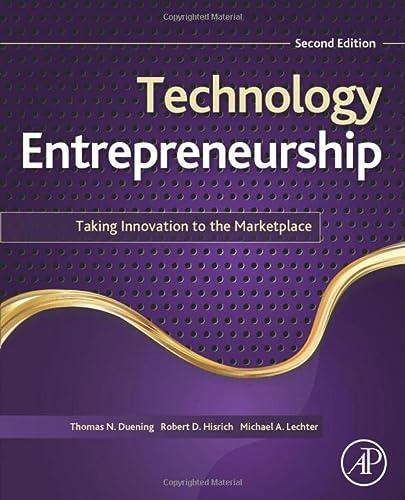 9780124201750: Technology Entrepreneurship, Second Edition: Taking Innovation to the Marketplace