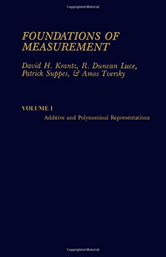 9780124254015: Foundations of Measurement; Additive and Polynomial Representations