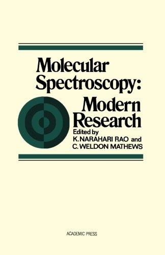 9780124312388: Molecular Spectroscopy: Modern Research