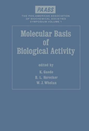 9780124313033: Molecular Basis of Biological Activity