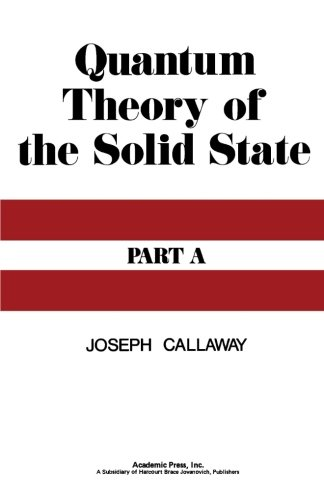 9780124314474: Quantum Theory of the Solid State, Part A