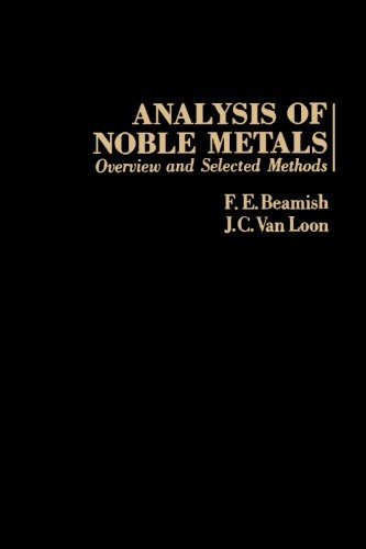 9780124316966: Analysis of Noble Metals: Overview and Selected Methods