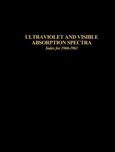 Ultraviolet and Visible Absorption Spectra, Index for 1960-1963: Herbert M. Hershenson