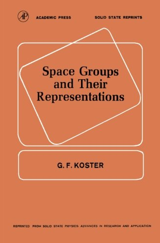 9780124337848: Space Groups and Their Representations