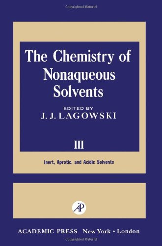 9780124338036: Chemistry of Nonaqueous Solvents: v. 3