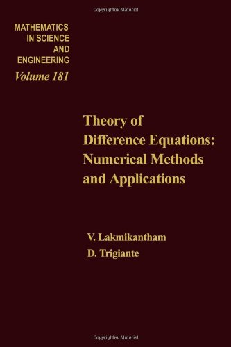 Theory of Difference Equations: Numerical Methods and: Trigiante, Donato, Lakshmikantham,