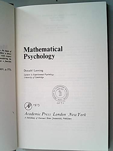 9780124354609: Mathematical Psychology