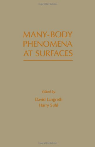9780124365605: Many-body Phenomena at Surfaces