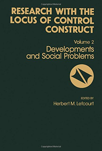 9780124432024: Research With the Locus of Control Construct: Developments in Social Problems