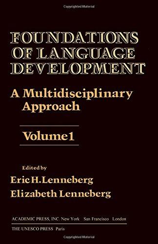 9780124437012: Foundations of Language Development: v. 1: Multidisciplinary Approach (Unesco Symposium)
