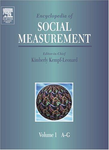 Encyclopedia Of Social Measurement, ( 3 Vol. Set)