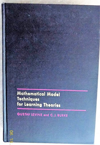 9780124452503: Mathematical Model Techniques for Learning Theories