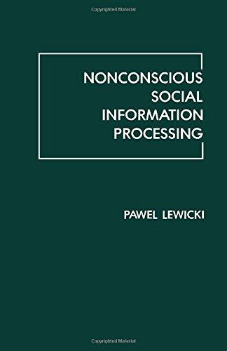 9780124461208: Nonconscience Social Info